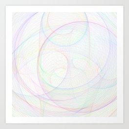 Zoomed Rings 1 Art Print