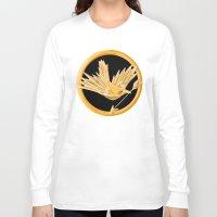 mockingjay Long Sleeve T-shirts featuring Mockingjay by AriesNamarie