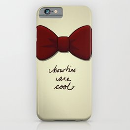 bowties are cool. iPhone Case