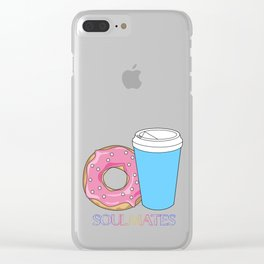 Soulmates-Coffee Clear iPhone Case