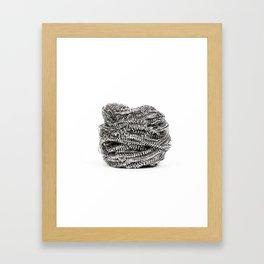 Steel Wire Wool Framed Art Print