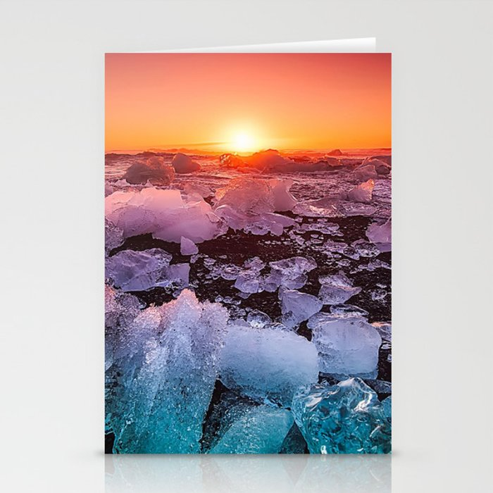 Ice of Antarctica's Sunset Stationery Cards