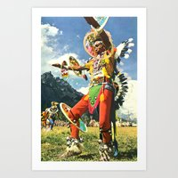 The Psychedelic Tribe Art Print