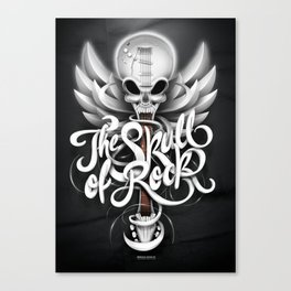 The Skull of Rock! Canvas Print