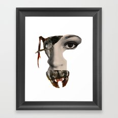 Ant Face Framed Art Print