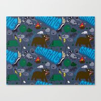 camping Canvas Prints featuring Camping by Chris Piascik