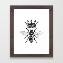 Queen Bee | Black and White Framed Art Print