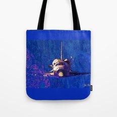 Space shuttle orbit Tote Bag
