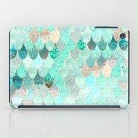 mermaid iPad Cases featuring SUMMER MERMAID by Monika Strigel