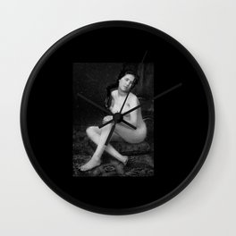 Female nude by Francois Moulin 1852 Wall Clock