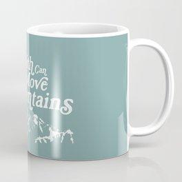 Retro Faith can Move Mountains Coffee Mug