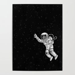 Astronaut in the outer space Poster