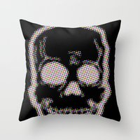 trippy Throw Pillows featuring Trippy by Hold Up Art