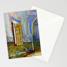 Near-Eastern Palace Interior Portrait by Louis Comfort Tiffany Stationery Cards