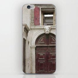 Venetian Door in Eggplant Purple iPhone Skin