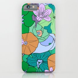 70s Flower Inferno - Green iPhone Case