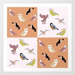 Birds pattern9 Art Print