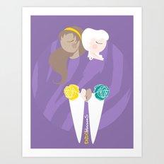 Teenage Endometriosis Awareness - Commissioned Work Art Print