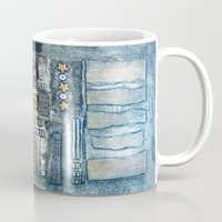 cityscape Mugs featuring Cityscape by Maureen Mitchell