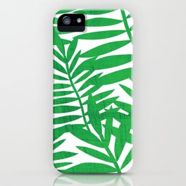 Tropical Leaf Print iPhone Case