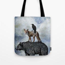 True North Bear Fox And Crow Tote Bag