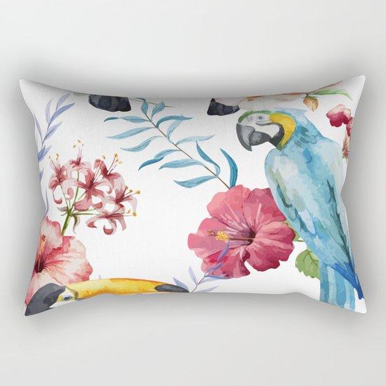 Tropical Bird Pattern 01 Rectangular Pillow