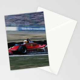 Sketch of F1 Champion Jody Scheckter - year 1979 car 312 T4 Stationery Cards