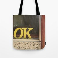 kim sy ok Tote Bags featuring OK by Michelle & Chris Gerard