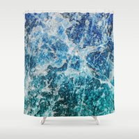minerals Shower Curtains featuring MINERAL MAGIC by Catspaws