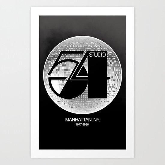 Studio 54 Discoteque Art Print By Garabutto Society6
