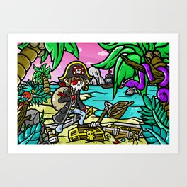 PIRATE DUDE! Art Print
