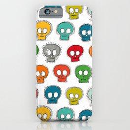 sew skully white iPhone Case