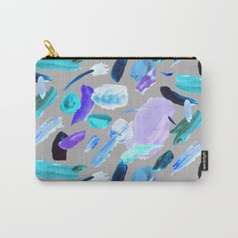 Painterly clouds pattern - Grey and blue Carry-All Pouch