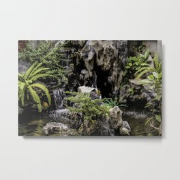 Charming Miniature Garden at the the Ngoc Son Temple at Hoan Kiem Lake in Hanoi, Vietnam Metal Print