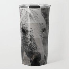 GreyScale Horse Travel Mug