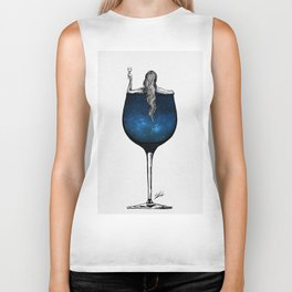 Wine night. Biker Tank