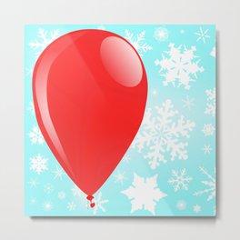 Christmas Balloon Metal Print