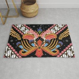 Batik, an Indonesian, originated from Java. Rug