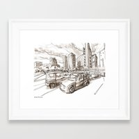 tokyo Framed Art Prints featuring Tokyo by Jonas Ericson