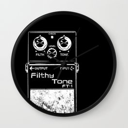 Filthy Tone Guitar Pedal Wall Clock