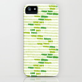 Green Triangle Arrow Trees iPhone Case