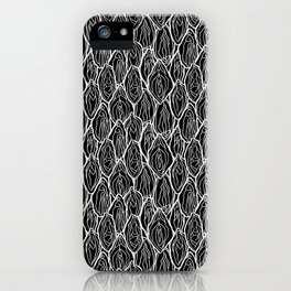 Vagina - Rama, Black with white outlines iPhone Case