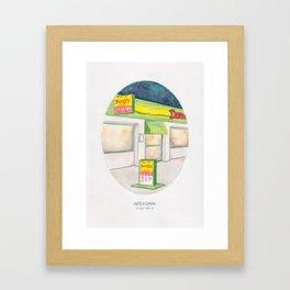 Haruki Murakami's After Dark Watercolor Illustration Framed Art Print