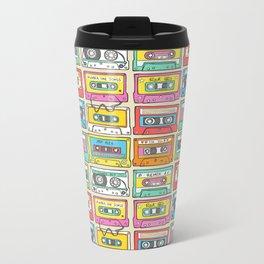 Nostalgia Audio Music Mix Cassette Tape Metal Travel Mug