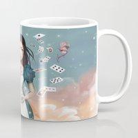 saga Mugs featuring It's time for tea Alice by Saga-Mariah