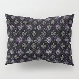 Endless Knot pattern - Silver and Amethyst Pillow Sham