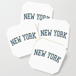 New York Sports College Font Coaster