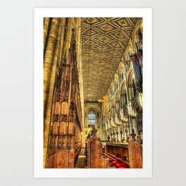 The Carved Pews Art Print