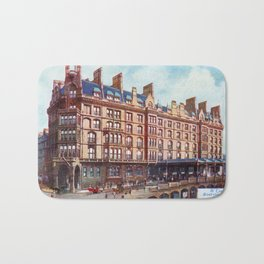 Vintage St Enoch railway station hotel Glasgow Bath Mat