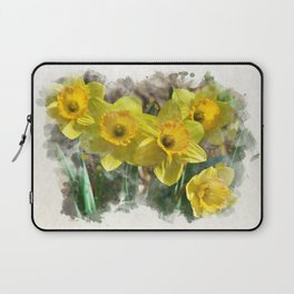 Watercolor Daffodils Laptop Sleeve